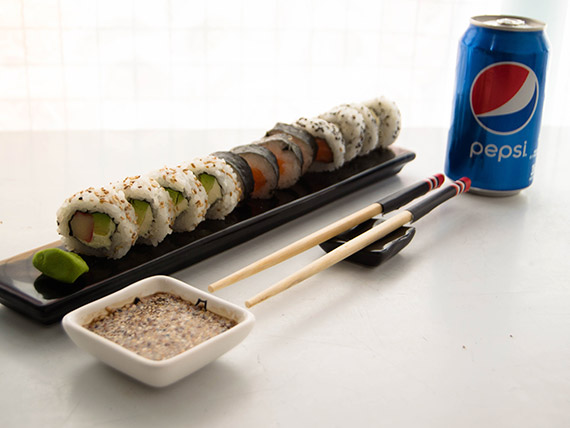 Menú mediodía 2 - 12 piezas combinadas + gaseosa