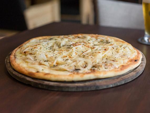 Pizzeta fugazza con mozzarella
