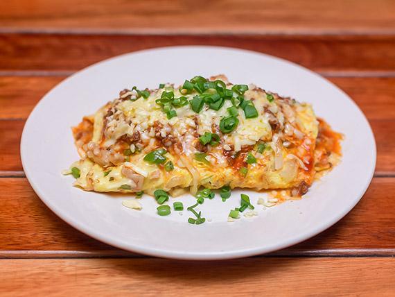 Omelete chicken a bolonhesa