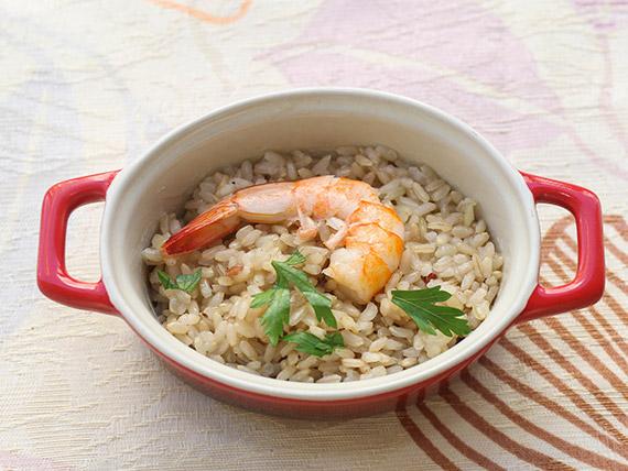 Paella marinera com arroz integral (tamanho grande)