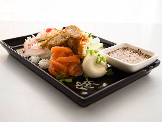 Menú mediodía 1 - Ensalada Gohan + gaseosa