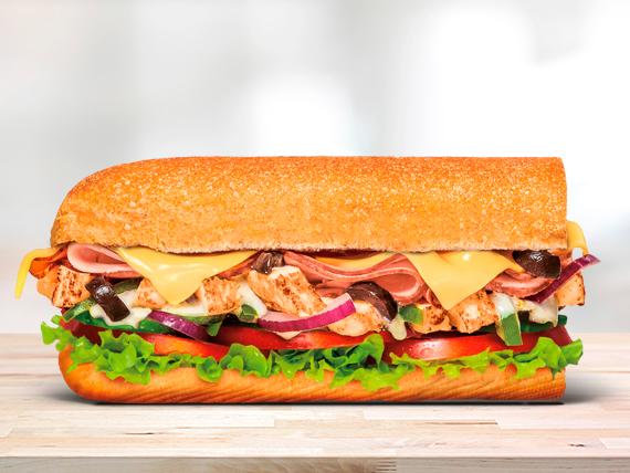 Sándwich de pollo Cordon Bleu (15 cm)