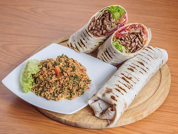 Promo 3 - 2 Shawarmas XL de falafel (500 gr. c/u) + ensalada Tabule