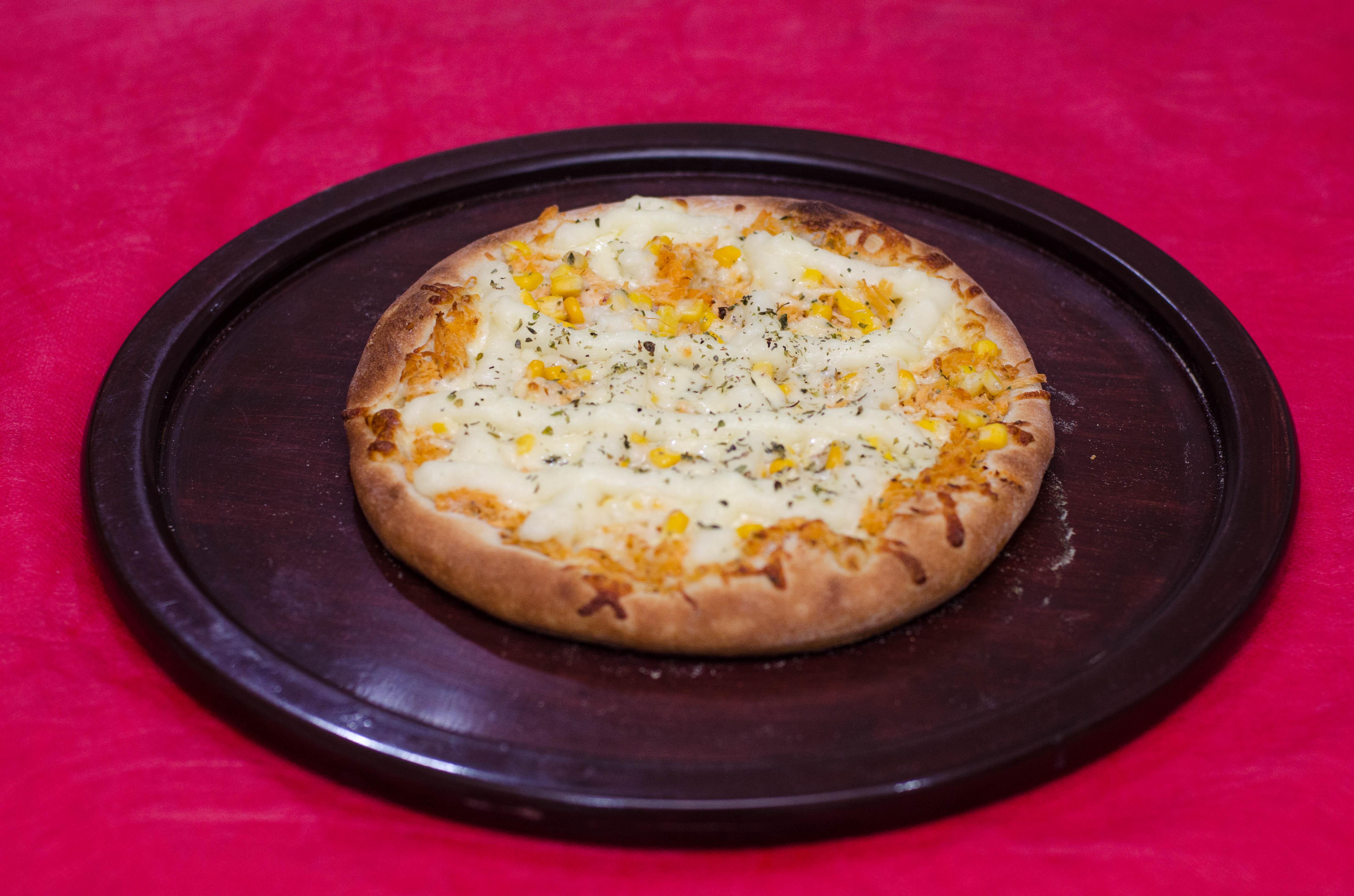 Pizza de frango com catupiry grande