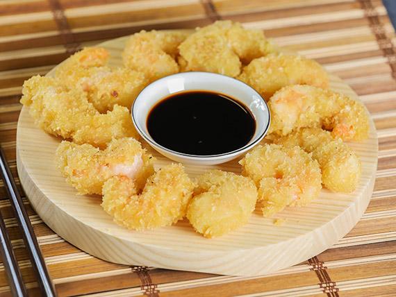 Langostinos tempura (10 piezas)