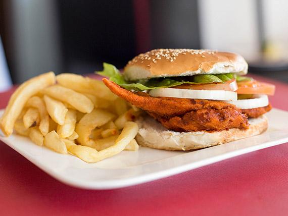 Pollo crocante sándwich