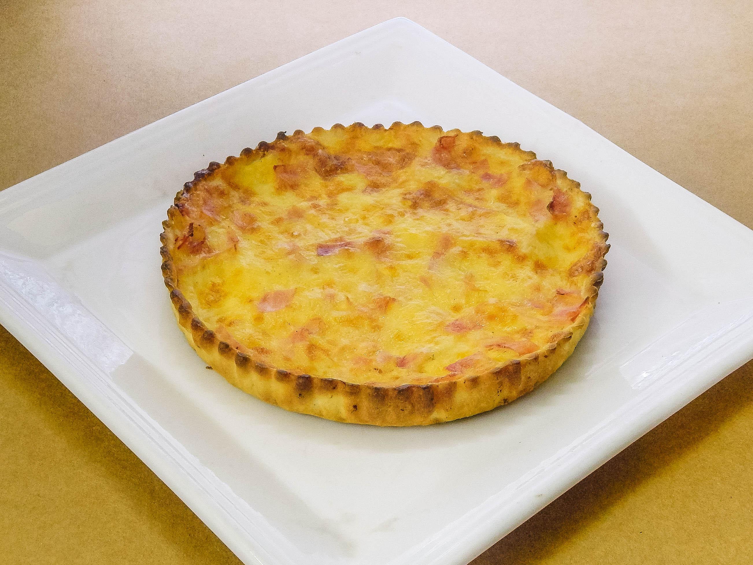 Tarta jamón y queso
