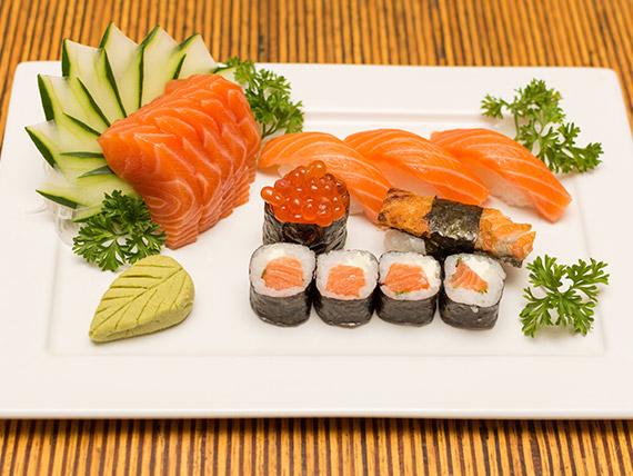 Combinado salmão simples (14 peças)
