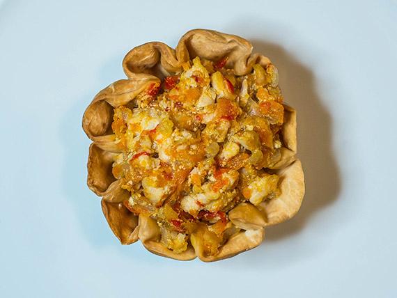Petit panier de pollo y verduras