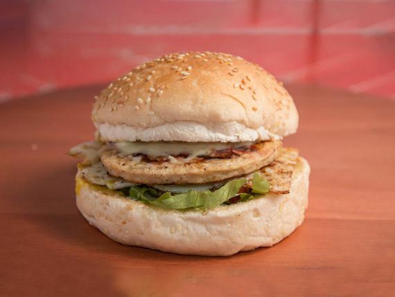 Hambúrguer de frango simples