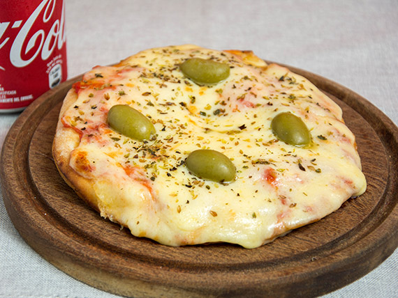 Promo 3 - Pizza muzzarella individual + gaseosa 250 ml