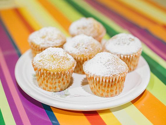 Muffin de vainilla caseros (6 unidades)