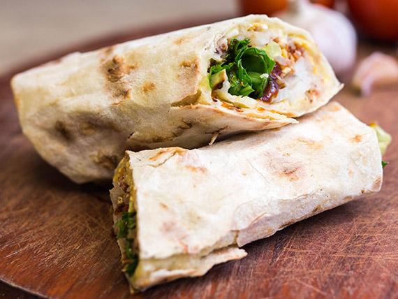 Roll tibio carne (chivito)