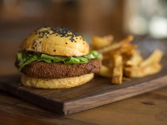 Chiken burger crunchych