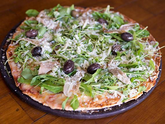 Pizza con rúcula especial