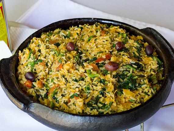 Porção arroz de Braga