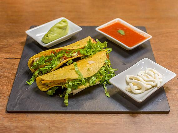 Crunchy taco vegetariano (1 unidade)