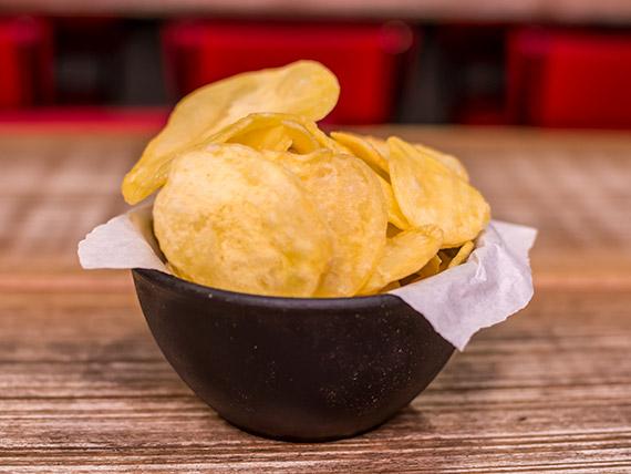 Porção - batata artesanal corte chips
