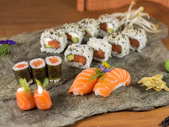 Combinado special salmón - 15 piezas