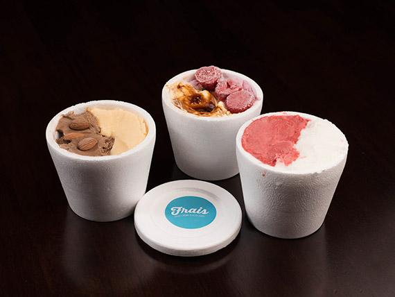 Promoción - 3 potes de  helados 1/4 kg