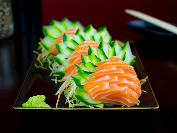 Sashimi salmão selado (15 unidades)