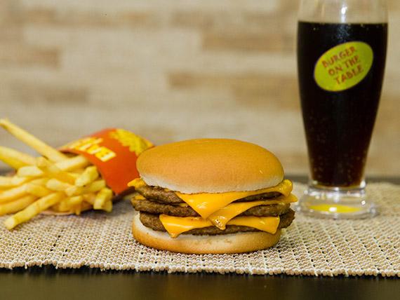 Trio - Sanduíche 9 + batata frita + refrigerante em lata