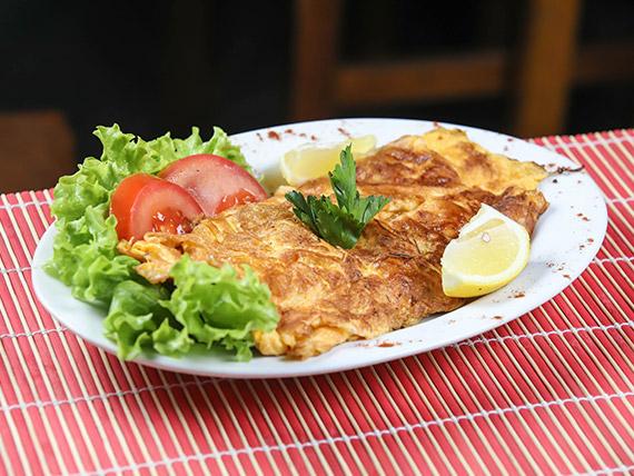 Omelette de jamón y muzzarella