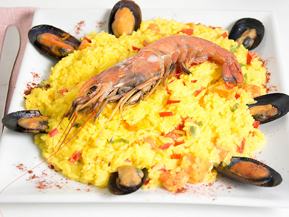 Risotto de frutos del mar
