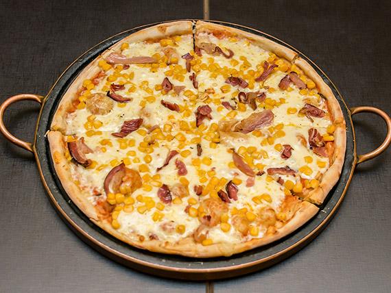 Pizza milho e bacon