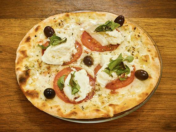 Pizza pequena burrata (4 pedaços)