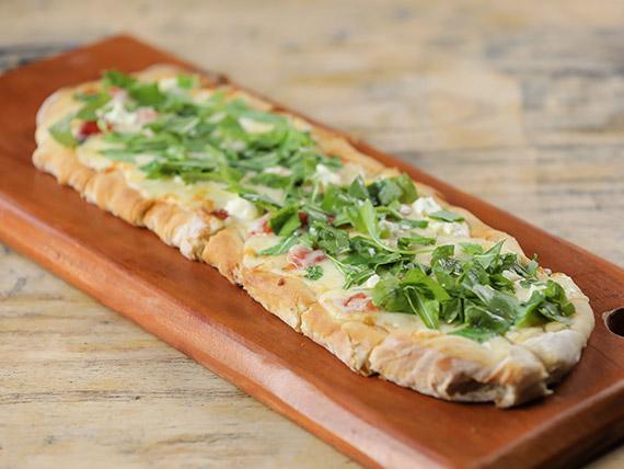 Pizza muzzarella y pesto (45 cm)