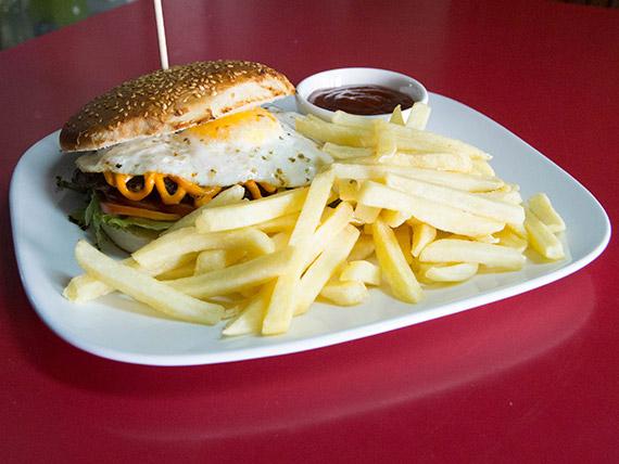 Sándwich hamburguesa premium beef