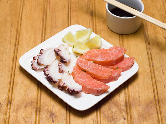 86 - Sashimi sake tako (4 cortes)