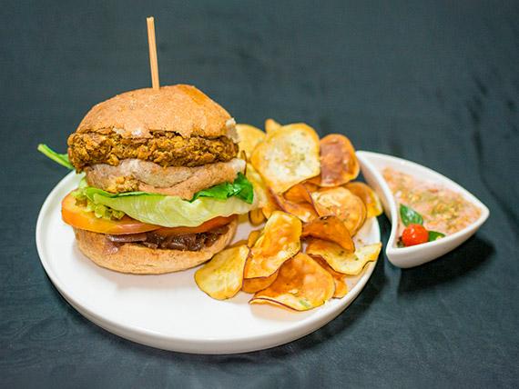 02 - Vegan burger (hambúrguer vegano)