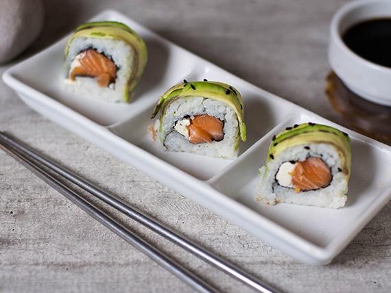 Phila green roll (10 piezas)