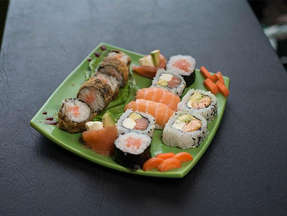 Combo salmón (15 piezas)