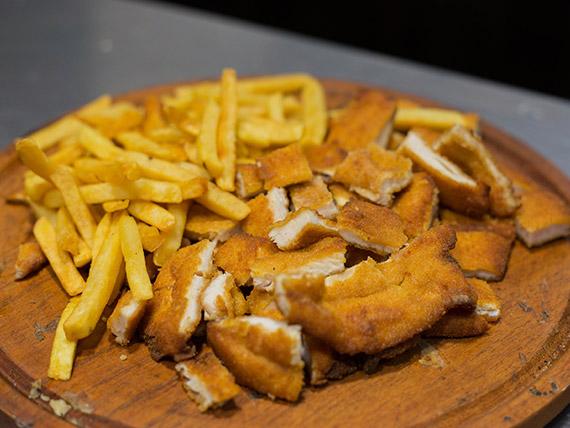 Picada de milanesa de pollo