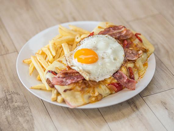 Milanesa TVG con fritas
