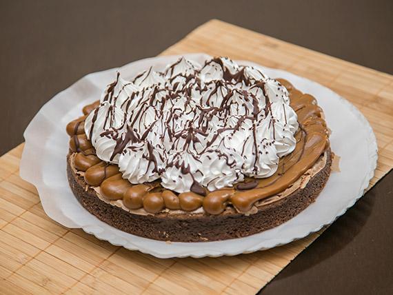Brownie de dulce de leche y merengue (10 porciones)