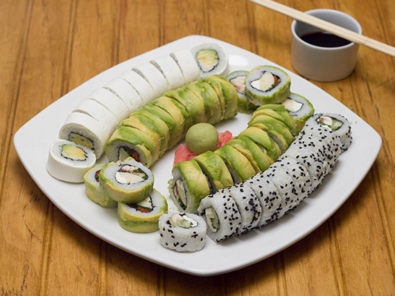 Promo 4 - Sushi vegetariano rolls (40 piezas)