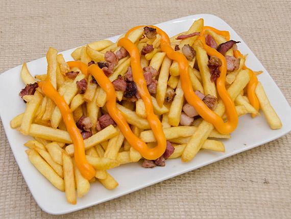 Fritas bacon cheddar