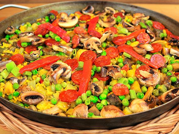 Paella campesina - 2 porciones