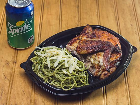 Parricombo 3 - Pechuga + guarnición o papas fritas + bebida línea Coca Cola