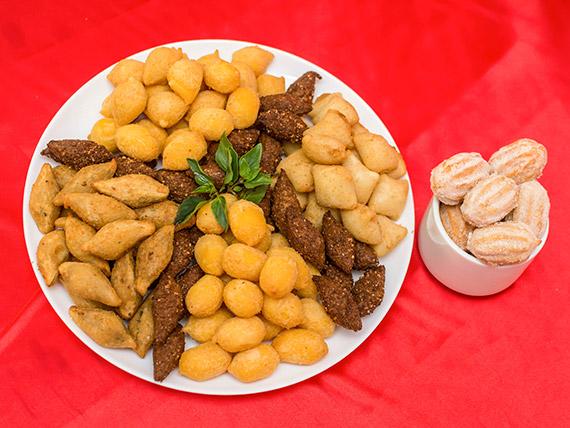 Promoção - kit mini salgadinhos Dona Vera + 10 mini churros grátis
