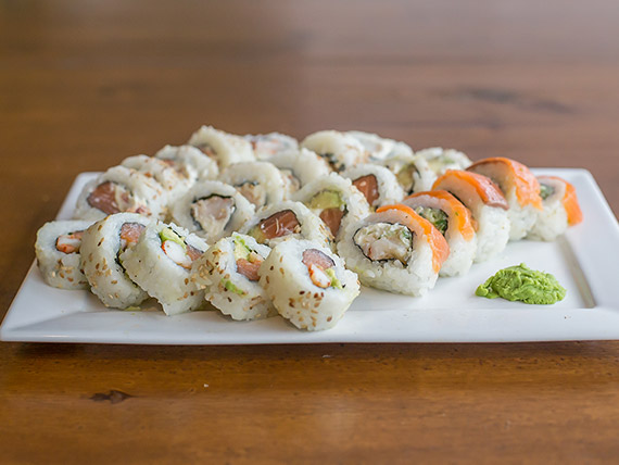 Combo salmón y langostino - 25 piezas