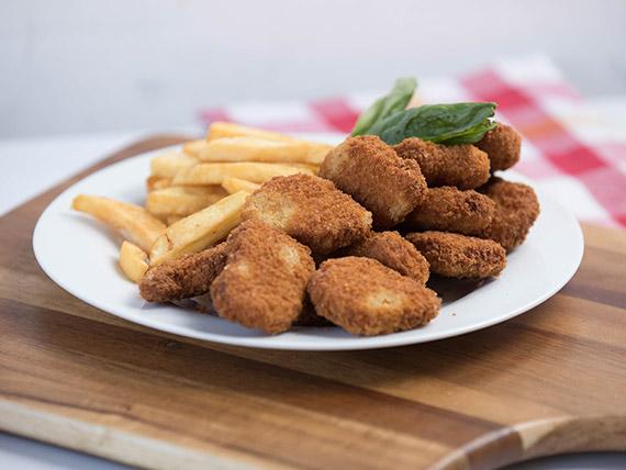 Nuggets de pollo con guarnición