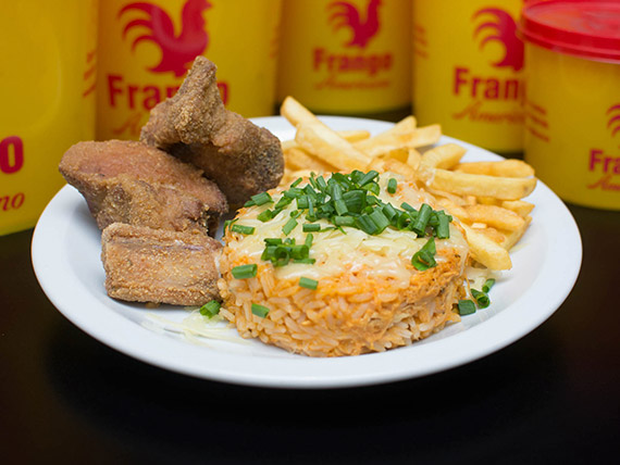 Combo individual - Risoto + batata frita ou polenta + costelinha