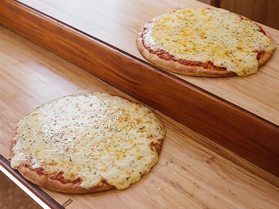 Promo - 2 pizzas muzzarella grandes (solo de lunes a jueves)