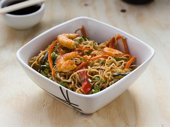 112 - Yakisoba camarón y verduras
