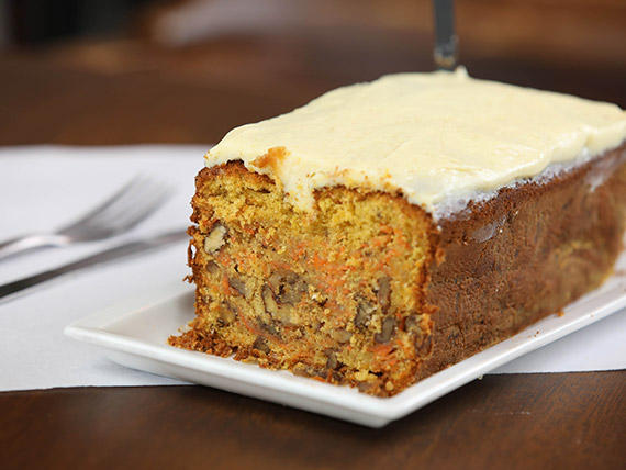 Carrot cake con chocolate blanco